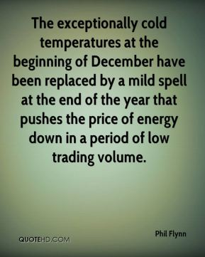 Phil Flynn  - The exceptionally cold temperatures at the beginning of December have been replaced by a mild spell at the end of the year that pushes the price of energy down in a period of low trading volume.