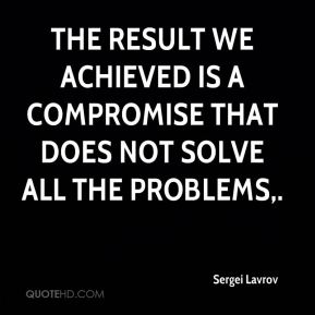 The result we achieved is a compromise that does not solve all the problems.