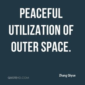 peaceful utilization of outer space.