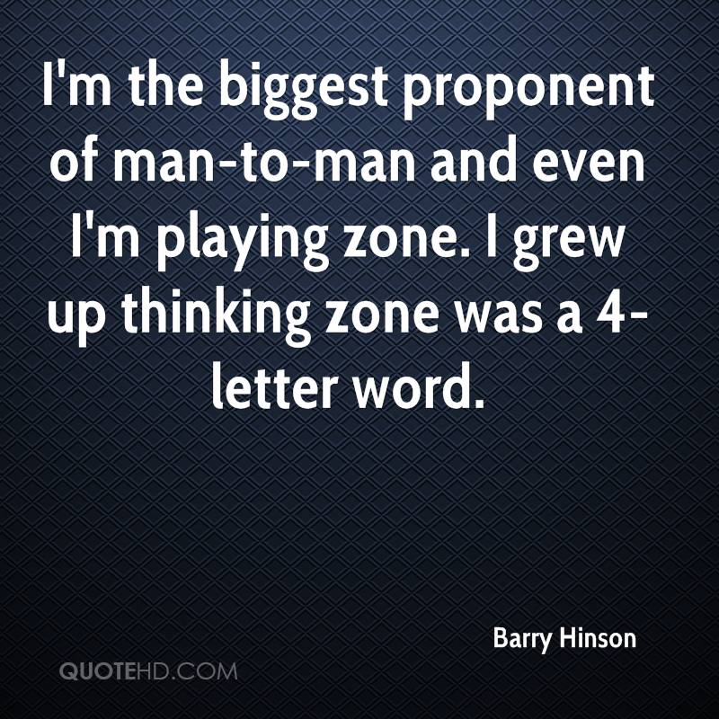 I'm the biggest proponent of man-to-man and even I'm playing zone. I grew up thinking zone was a 4-letter word.