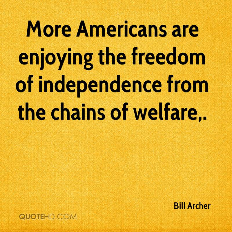 More Americans are enjoying the freedom of independence from the chains of welfare.
