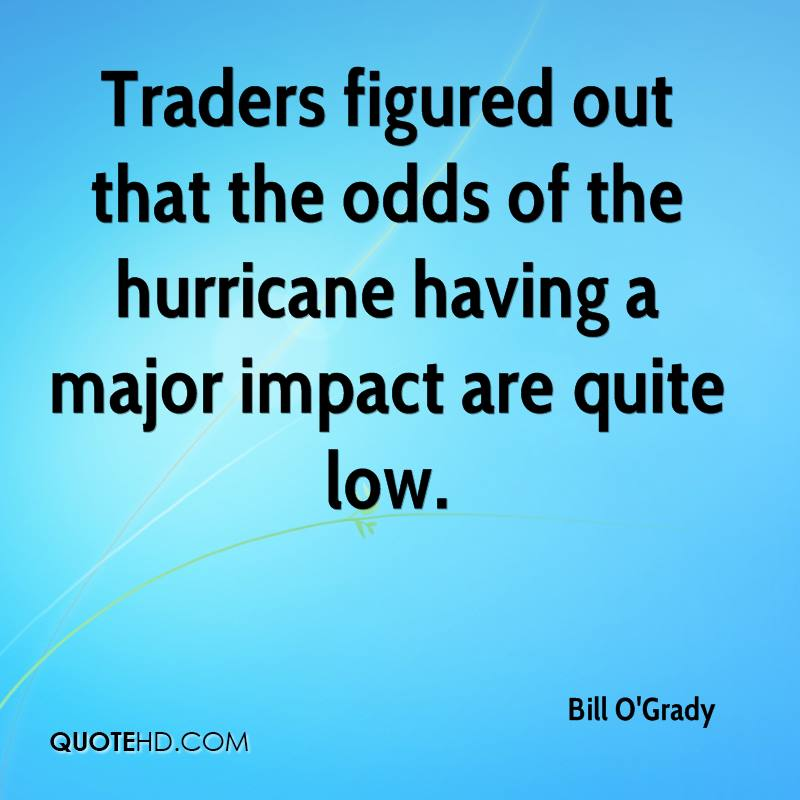 Traders figured out that the odds of the hurricane having a major impact are quite low.