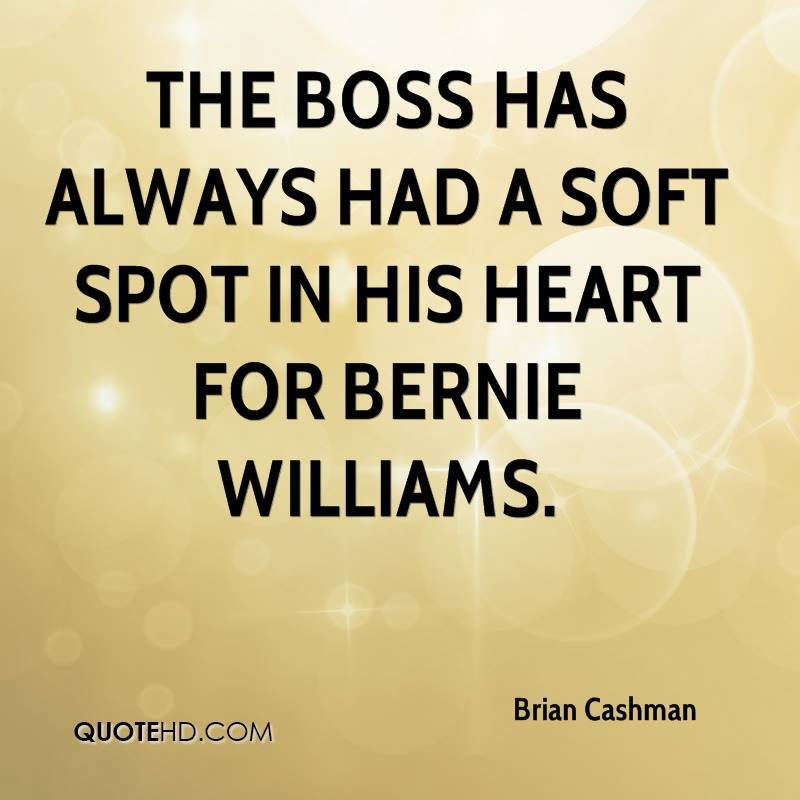 The Boss has always had a soft spot in his heart for Bernie Williams.