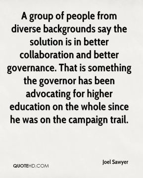 A group of people from diverse backgrounds say the solution is in better collaboration and better governance. That is something the governor has been advocating for higher education on the whole since he was on the campaign trail.