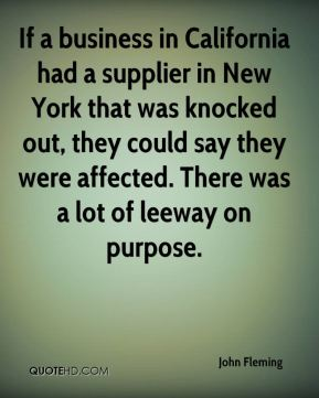 If a business in California had a supplier in New York that was knocked out, they could say they were affected. There was a lot of leeway on purpose.