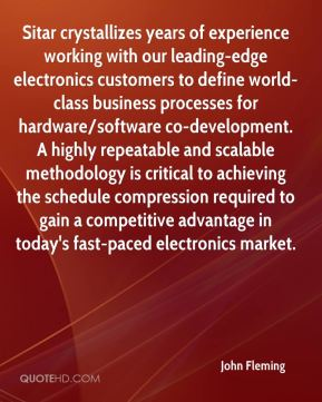 Sitar crystallizes years of experience working with our leading-edge electronics customers to define world-class business processes for hardware/software co-development. A highly repeatable and scalable methodology is critical to achieving the schedule compression required to gain a competitive advantage in today's fast-paced electronics market.