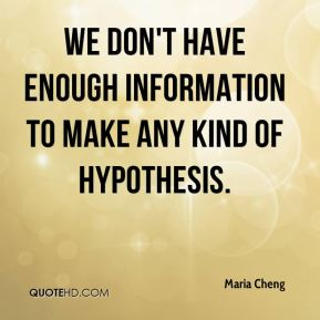 We don't have enough information to make any kind of hypothesis.