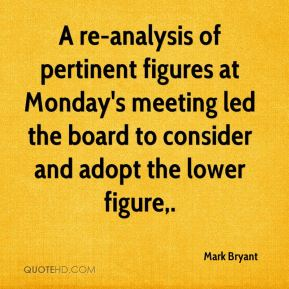 Mark Bryant  - A re-analysis of pertinent figures at Monday's meeting led the board to consider and adopt the lower figure.