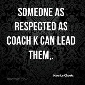 Someone as respected as Coach K can lead them.