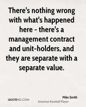 There's nothing wrong with what's happened here - there's a management contract and unit-holders, and they are separate with a separate value.