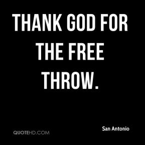 Thank God for the free throw.