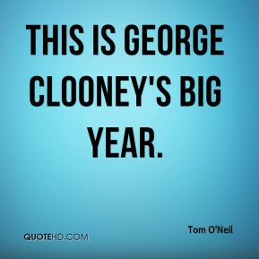 This is George Clooney's big year.
