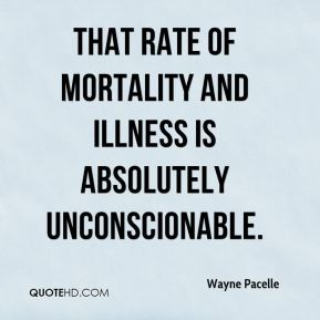That rate of mortality and illness is absolutely unconscionable.