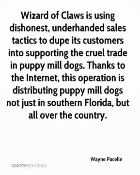 Wizard of Claws is using dishonest, underhanded sales tactics to dupe its customers into supporting the cruel trade in puppy mill dogs. Thanks to the Internet, this operation is distributing puppy mill dogs not just in southern Florida, but all over the country.