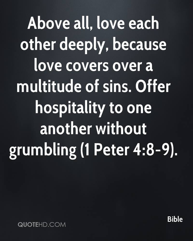 Love Each Other Deeply: Bible Quotes