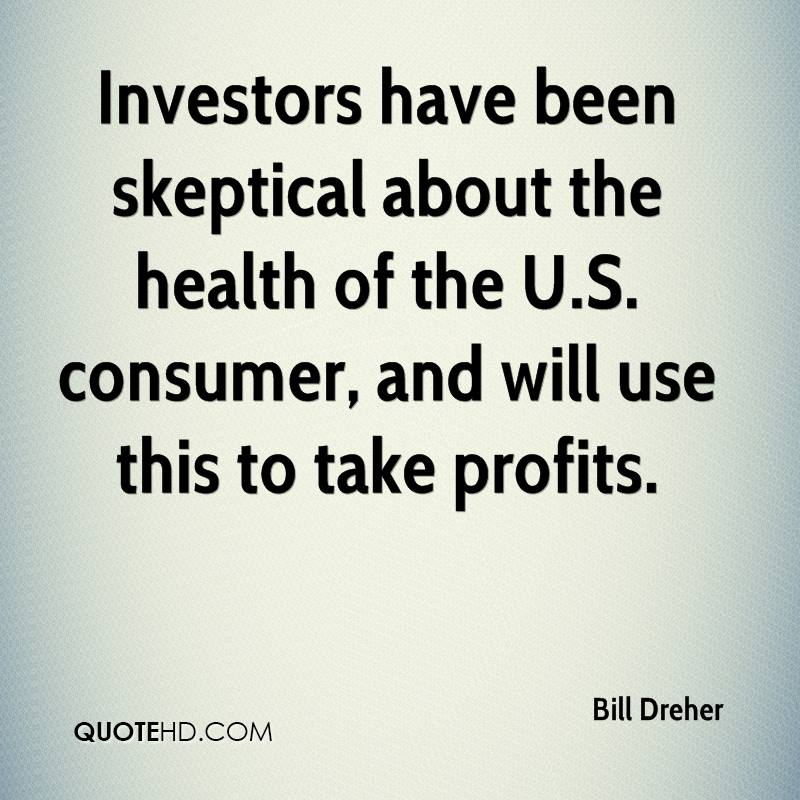 Investors have been skeptical about the health of the U.S. consumer, and will use this to take profits.