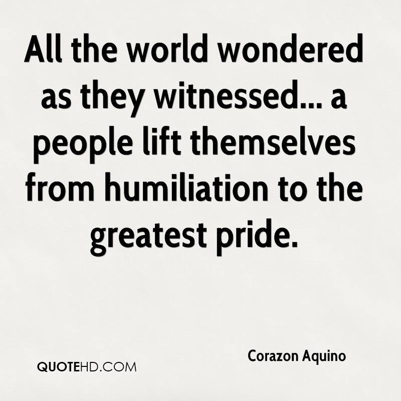All the world wondered as they witnessed... a people lift themselves from humiliation to the greatest pride.