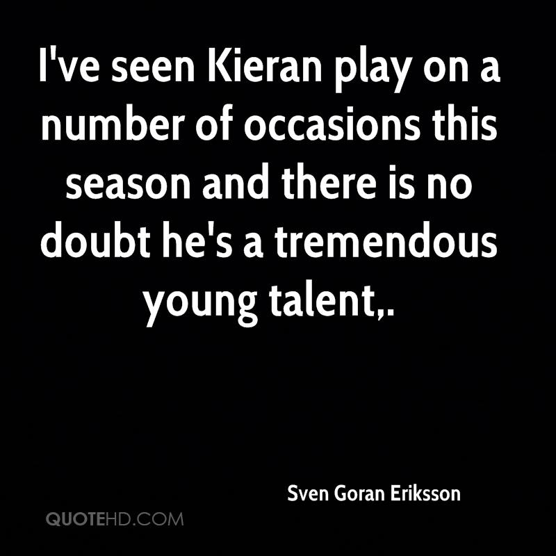 I've seen Kieran play on a number of occasions this season and there is no doubt he's a tremendous young talent.
