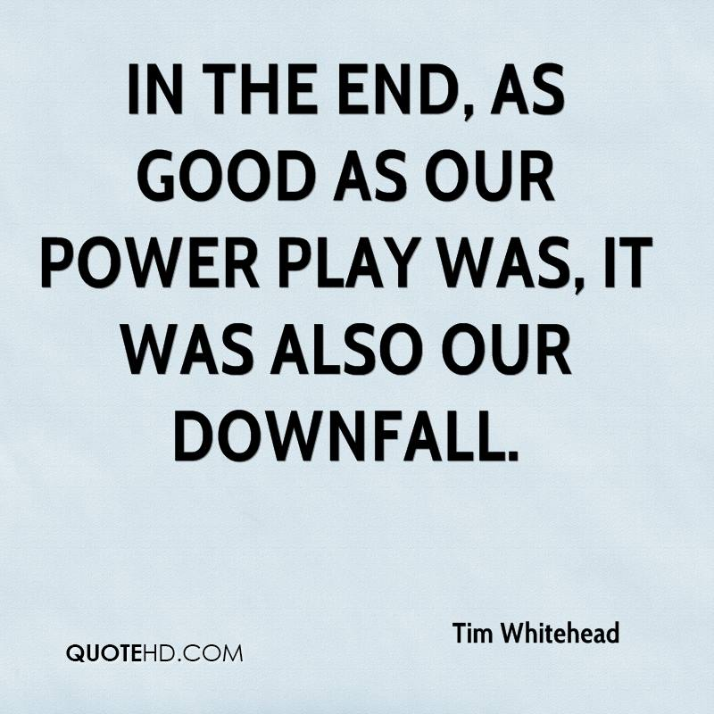 In the end, as good as our power play was, it was also our downfall.