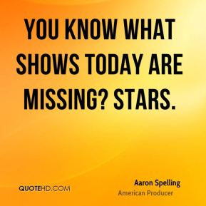 You know what shows today are missing? Stars.