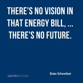 There's no vision in that energy bill, ... There's no future.