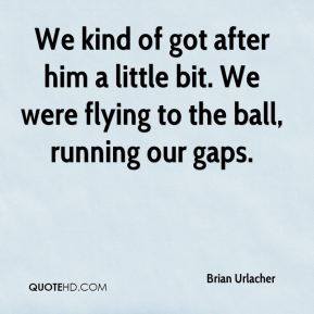Brian Urlacher - We kind of got after him a little bit. We were flying to the ball, running our gaps.