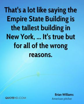 That's a lot like saying the Empire State Building is the tallest building in New York, ... It's true but for all of the wrong reasons.