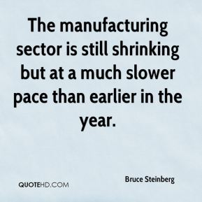 The manufacturing sector is still shrinking but at a much slower pace than earlier in the year.