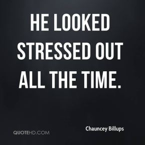 Chauncey Billups - He looked stressed out all the time.