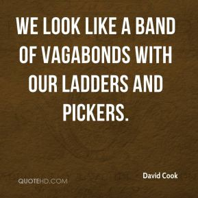 David Cook - We look like a band of vagabonds with our ladders and pickers.