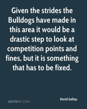 Given the strides the Bulldogs have made in this area it would be a drastic step to look at competition points and fines, but it is something that has to be fixed.
