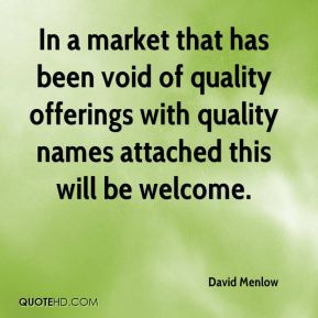 In a market that has been void of quality offerings with quality names attached this will be welcome.