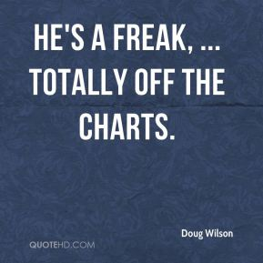 Doug Wilson - He's a freak, ... totally off the charts.