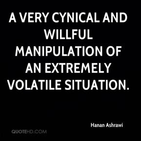 Hanan Ashrawi - a very cynical and willful manipulation of an extremely volatile situation.