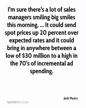 Jack Myers - I'm sure there's a lot of sales managers smiling big smiles this morning, ... It could send spot prices up 20 percent over expected rates and it could bring in anywhere between a low of $30 million to a high in the 70's of incremental ad spending.