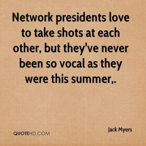 Network presidents love to take shots at each other, but they've never been so vocal as they were this summer.