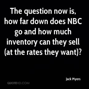 The question now is, how far down does NBC go and how much inventory can they sell (at the rates they want)?