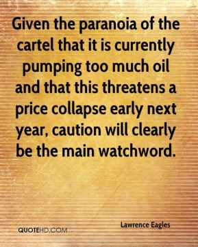 Given the paranoia of the cartel that it is currently pumping too much oil and that this threatens a price collapse early next year, caution will clearly be the main watchword.