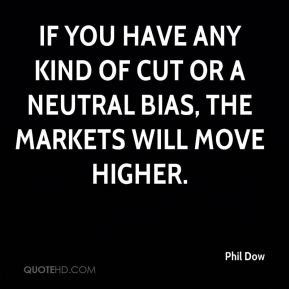 If you have any kind of cut or a neutral bias, the markets will move higher.