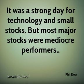 It was a strong day for technology and small stocks. But most major stocks were mediocre performers.