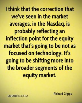 Richard Cripps  - I think that the correction that we've seen in the market averages, in the Nasdaq, is probably reflecting an inflection point for the equity market that's going to be not as focused on technology. It's going to be shifting more into the broader segments of the equity market.