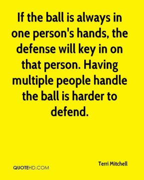 If the ball is always in one person's hands, the defense will key in on that person. Having multiple people handle the ball is harder to defend.