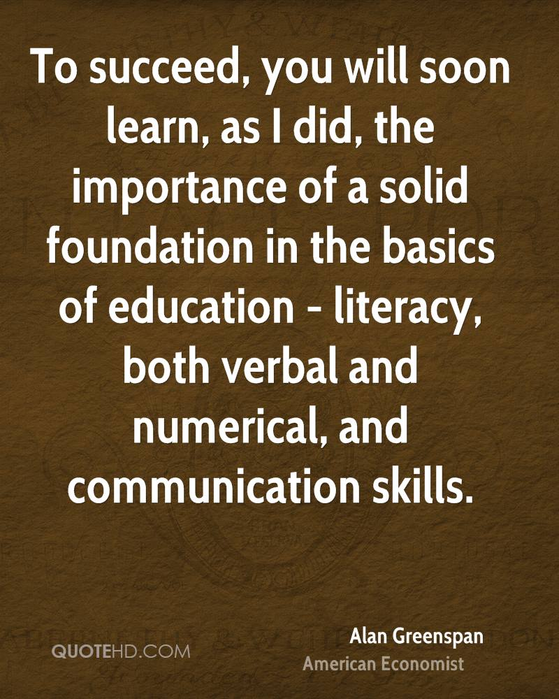 Importance Of Education Quotes Alan Greenspan Education Quotes  Quotehd