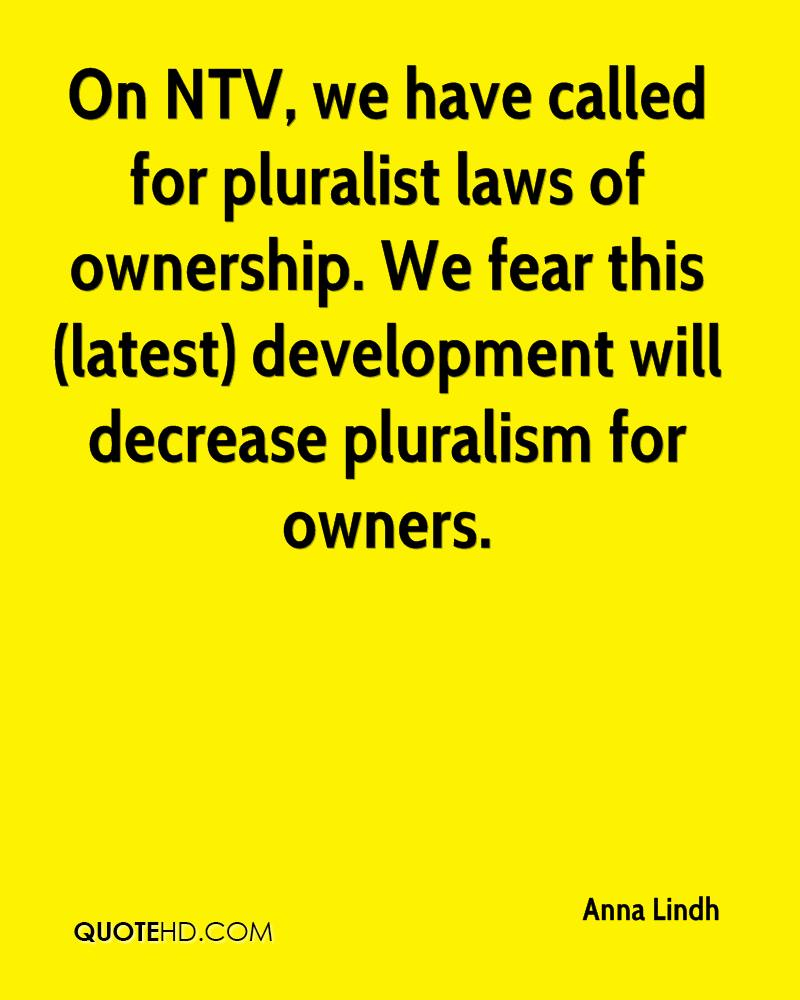 On NTV, we have called for pluralist laws of ownership. We fear this (latest) development will decrease pluralism for owners.