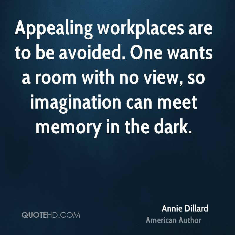 Charming Annie Dillard Imagination Quotes QuoteHD