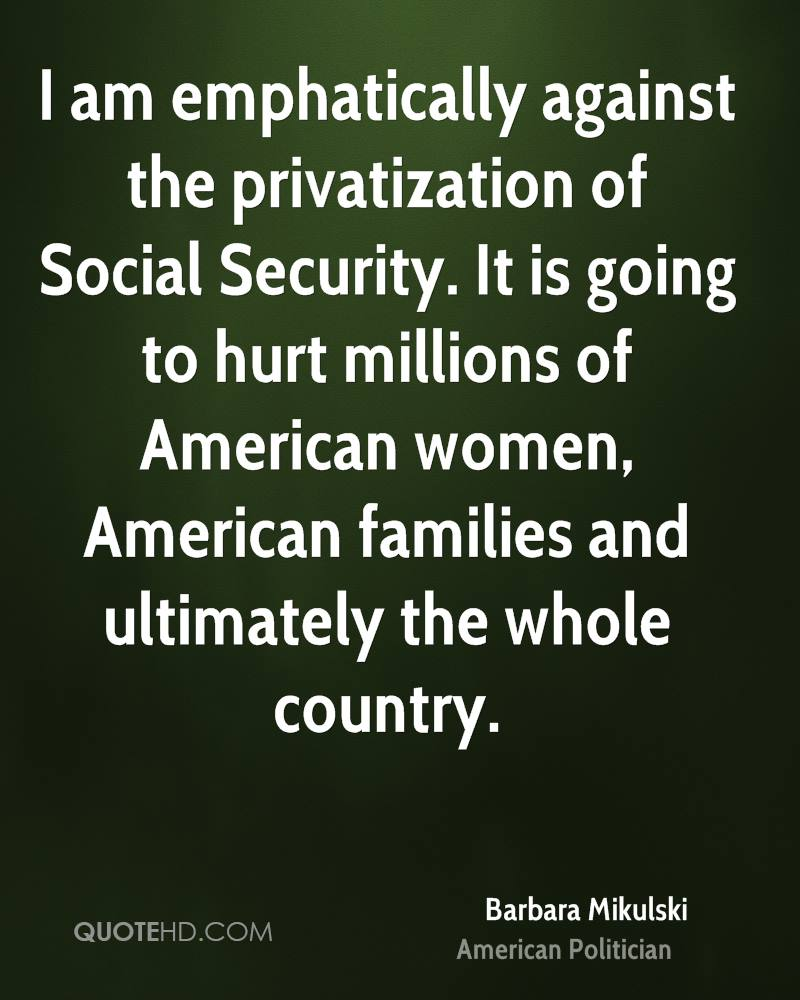 the privatization of social security Nancy altman discusses prospects for privatisation of medicare and social security raised by trump's hhs and othernomination announcements.