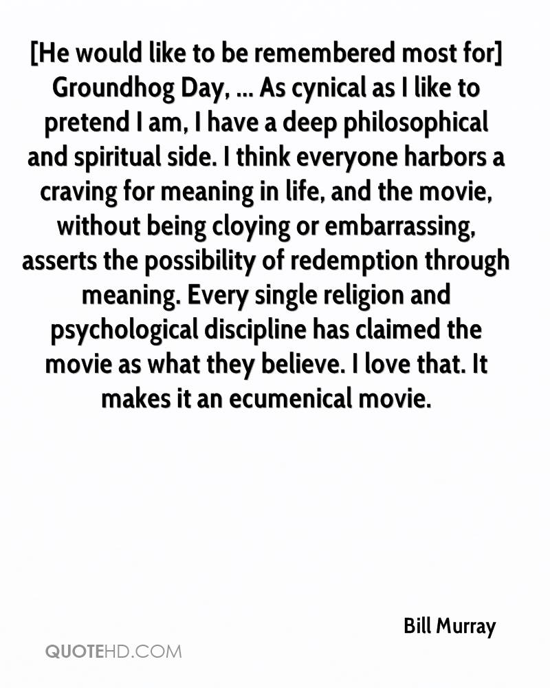 Groundhog Day Movie Quotes Bill Murray Quotes  Quotehd