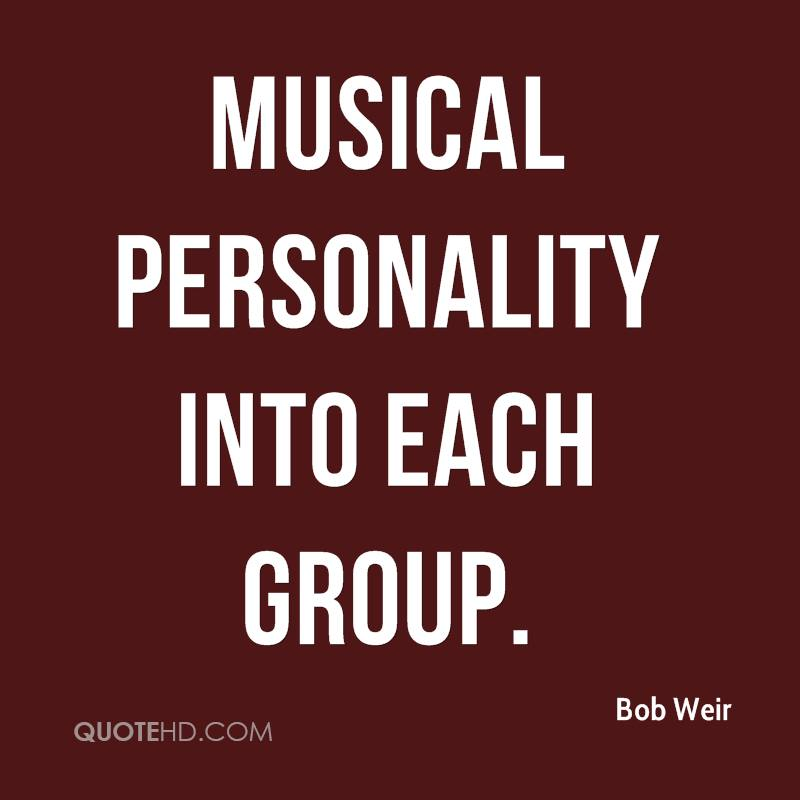 musical personality into each group.