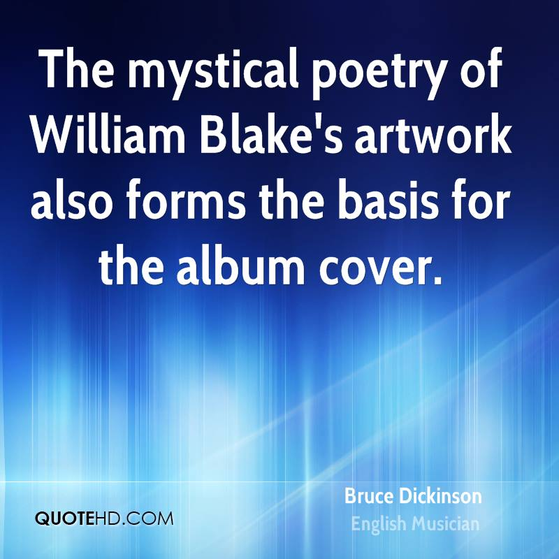 The mystical poetry of William Blake's artwork also forms the basis for the album cover.