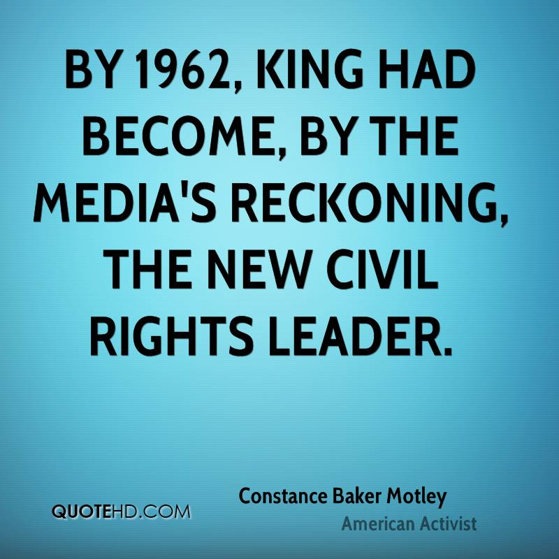 By 1962, King had become, by the media's reckoning, the new civil rights leader.